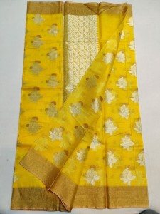 Kota Silk Saree Yellow