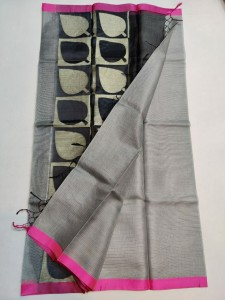 Kota Silk Saree Gray