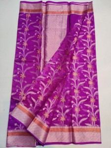 Kota Silk Saree Purple