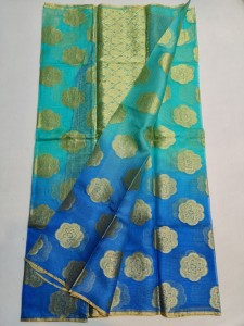 Kota Silk Saree With Blouse Ananda Blue