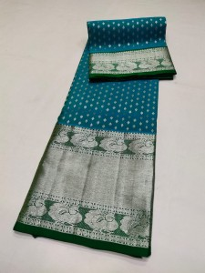 Ananda Blue Color Venkatagiri Pure Silk Saree