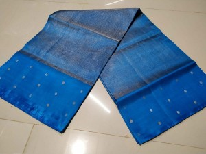 Ananda Blue Tissue Saree Border Butta Ananda Blue Color