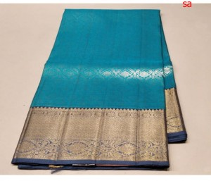 Ananda Blue Color Light Weight Kanchipattu Saree