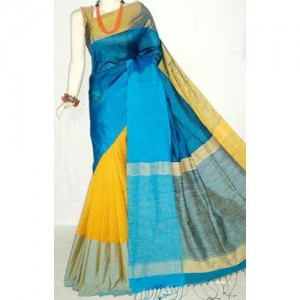Ananda Blue Color Mahapar Saree