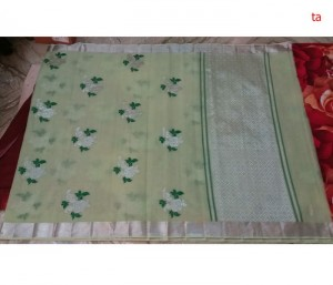 Pure Zari Kota Doria Handloom Saree Cream Color