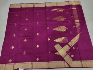 Dark Purple Chanderi Handloom Saree
